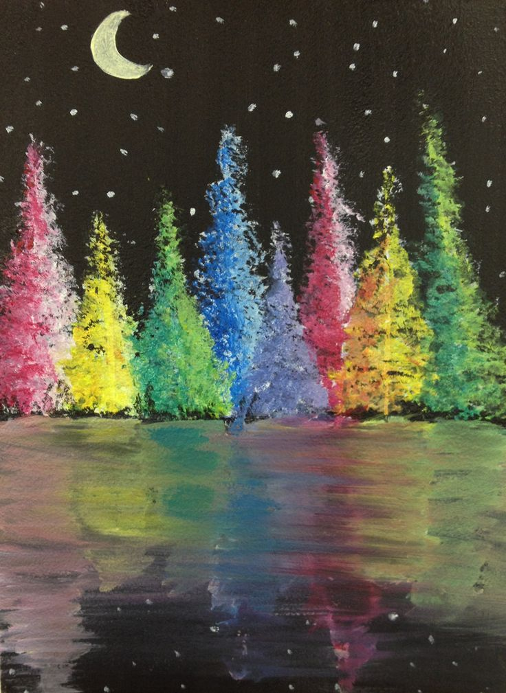 Drawn rainbow painted Cool images stars Rainbow Forest