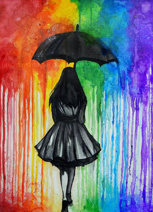 Drawn rainbow painted More Pinterest and Best art