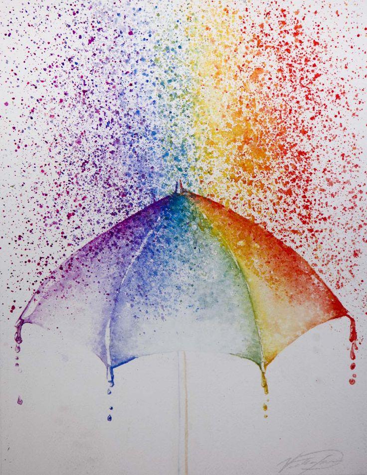 Drawn rainbow painted Rain Pinterest blue indigo Best