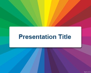 Drawn rainbow powerpoint templates PowerPoint in background PowerPoint Color