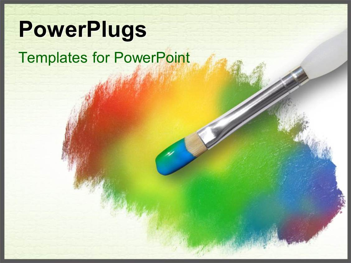 Drawn rainbow powerpoint templates A rainbow PowerPoint template painting