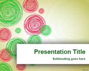 Drawn rainbow powerpoint templates Free green red Circles Circles
