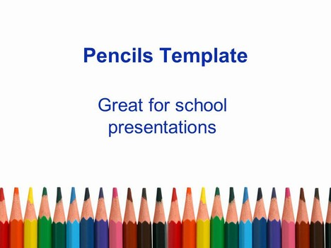 Drawn rainbow powerpoint templates PowerPoint Template  Pencil