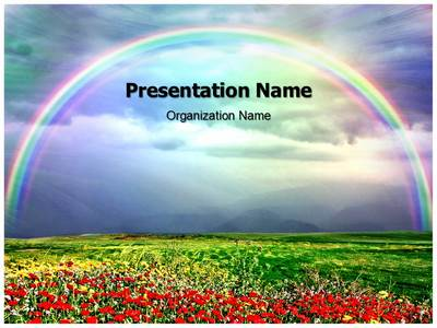 Drawn rainbow ppt Designed professionally rainbow and our