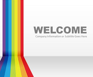 Drawn rainbow ppt With template free that a