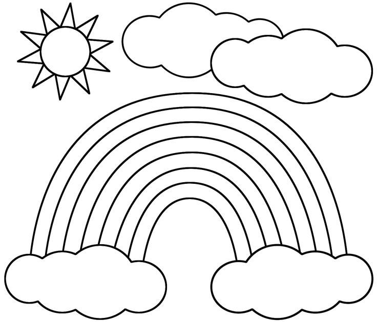 Drawn rainbow printable Page coloring coloring images on