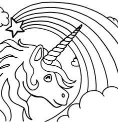 Drawn rainbow printable Rainbow colors Best 01 unicorn
