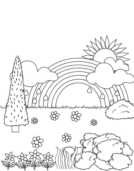 Drawn rainbow printable Rainbow rainbow rainbow the in
