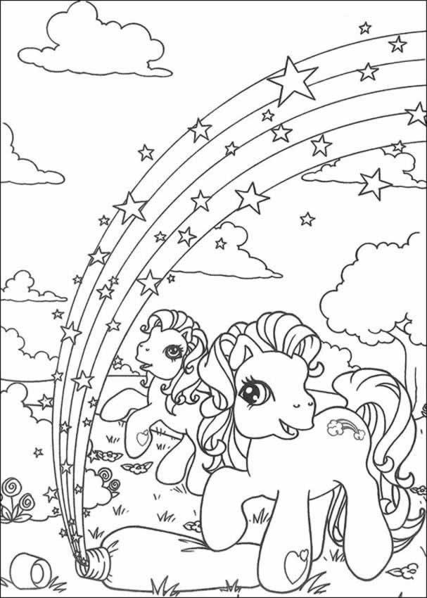 Drawn rainbow printable LITTLE LITTLE pages in Rainbow