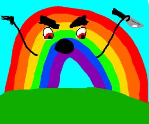 Drawn rainbow rimbow Rainbow (drawing RBF) by rainbow