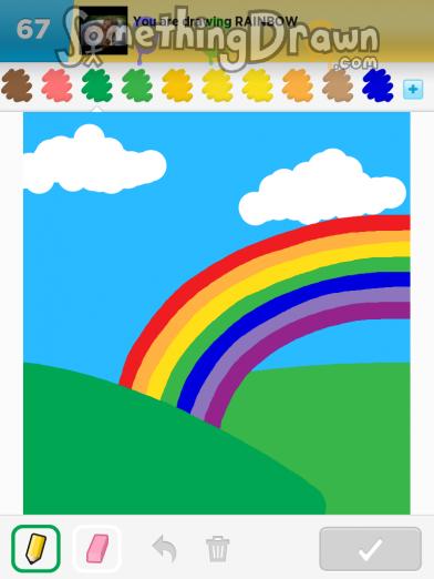 Drawn rainbow rimbow On SomethingDrawn drawn Something Stoo2099