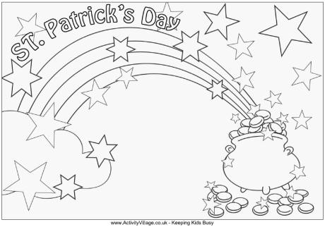 Drawn rainbow st patricks day For Pages jpg 1 Coloring
