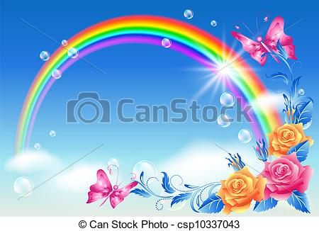 Drawn rainbow the sky Sky Illustrations  108 Rainbow