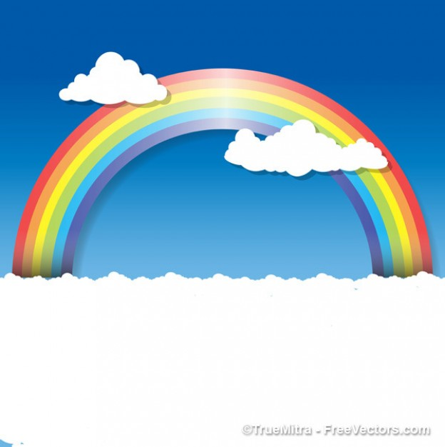 Drawn rainbow the sky Background Backgrounds Rainbow  clouds