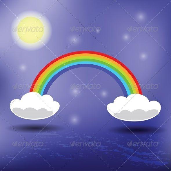 Drawn rainbow the sky Background (wallpaper) Rainbow Pinterest on