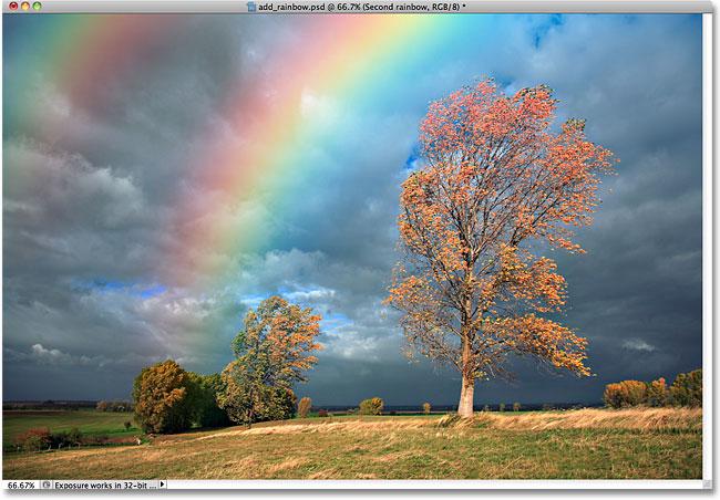 Drawn rainbow the sky Rainbow Rainbow The Photo Photoshop