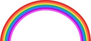 Drawn rainbow transparent background One below Graphics this Girly