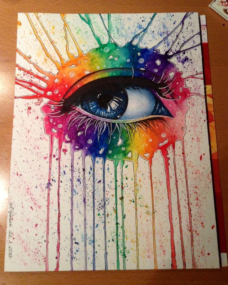 Drawn rainbow watercolor painting Ideas Rainbow 25+ Pinterest drawing