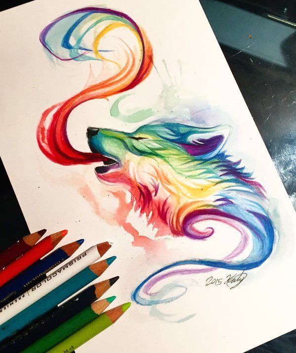 Drawn rainbow watercolor painting  Pinterest Watercolor 25+ best