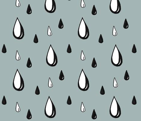 Drawn raindrops Drawn Spoonflower raindrops millsjenjen drawn