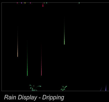 Drawn raindrops animated A Splashing motion smooth which