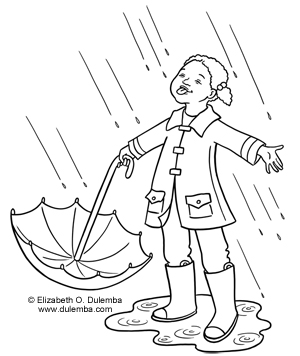 Drawn raindrops cute More of  Cold Coloring