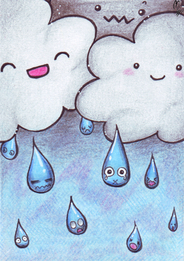 Drawn raindrops one YOU FOLLOWING are Your to