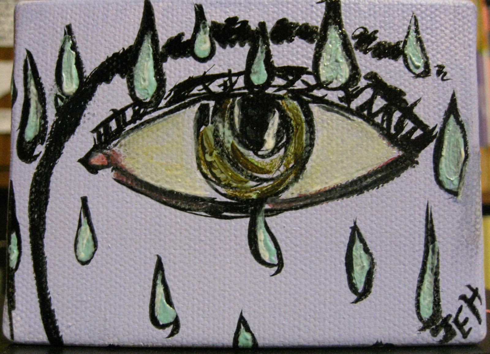 Drawn raindrops one Started Paint: of one a