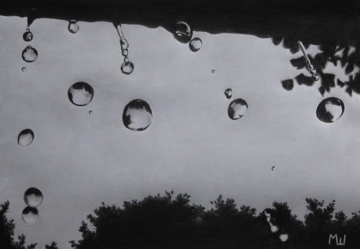 Drawn raindrops realistic Šunjkić The  Miroslav –