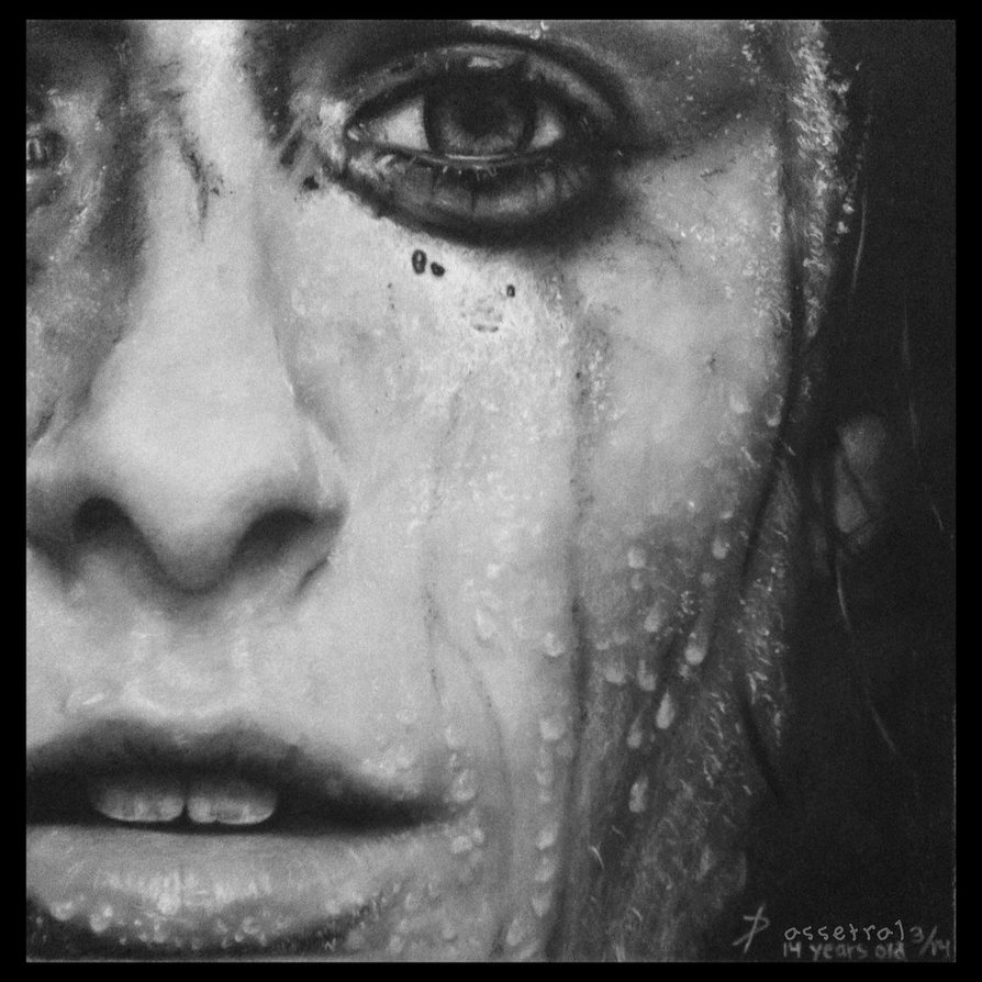 Drawn raindrops realistic DeviantArt by Girl by Girl