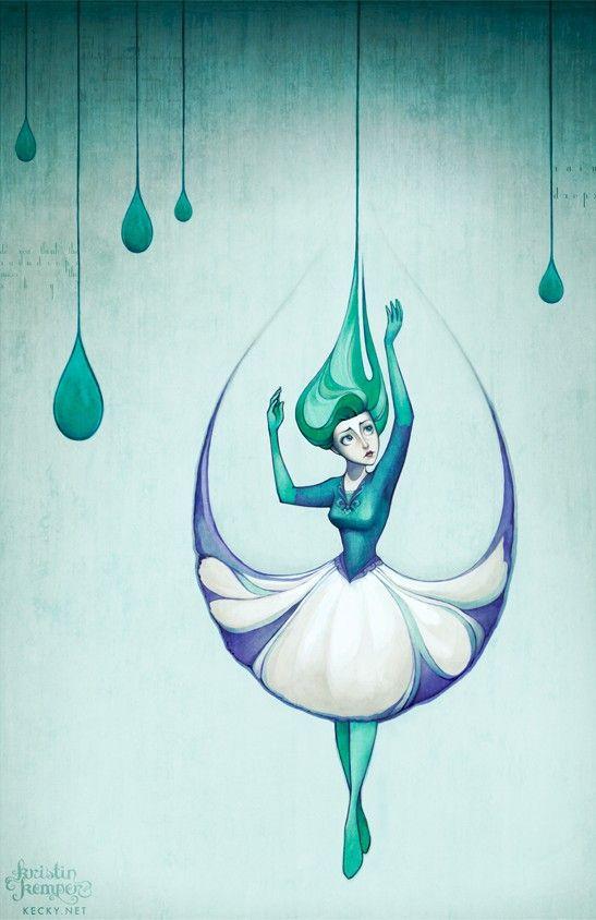 Drawn raindrops single This for Kristin Kemper while