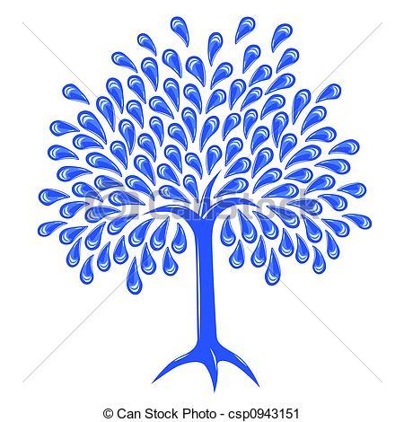 Drawn raindrops tree With raindrop  Clipart tree