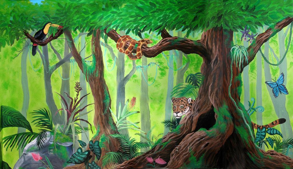 Drawn rainforest On DeviantArt Kchan27 Kchan27 Rainforest