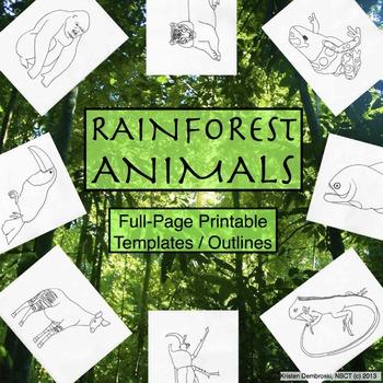 Drawn rainforest black and white Printable Full Full Outlines Rainforest
