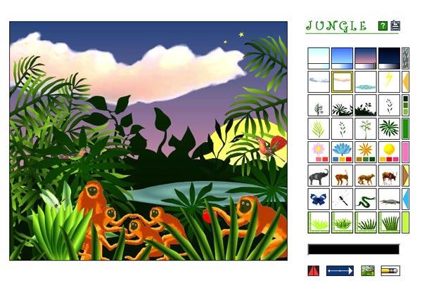 Drawn rainforest collage ks2 Jungle interactive Art Gallery of