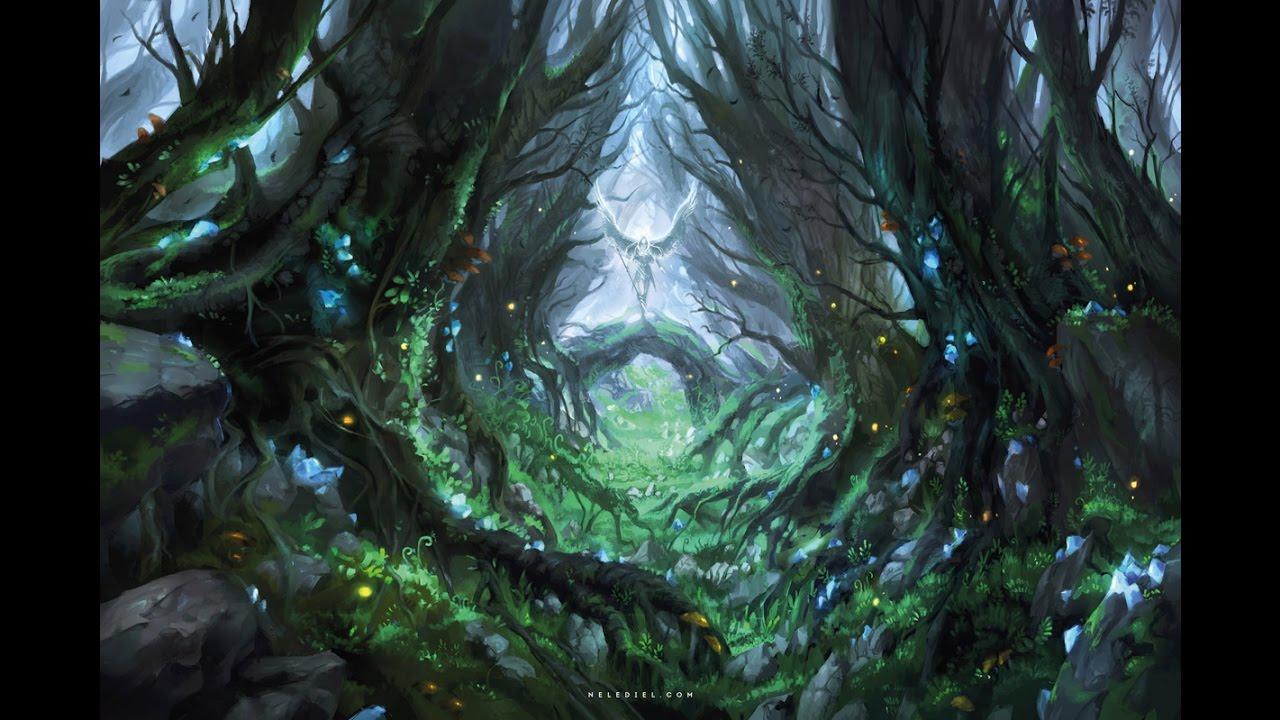 Drawn rainforest digital painting Painting Digital Painting Digital Forest