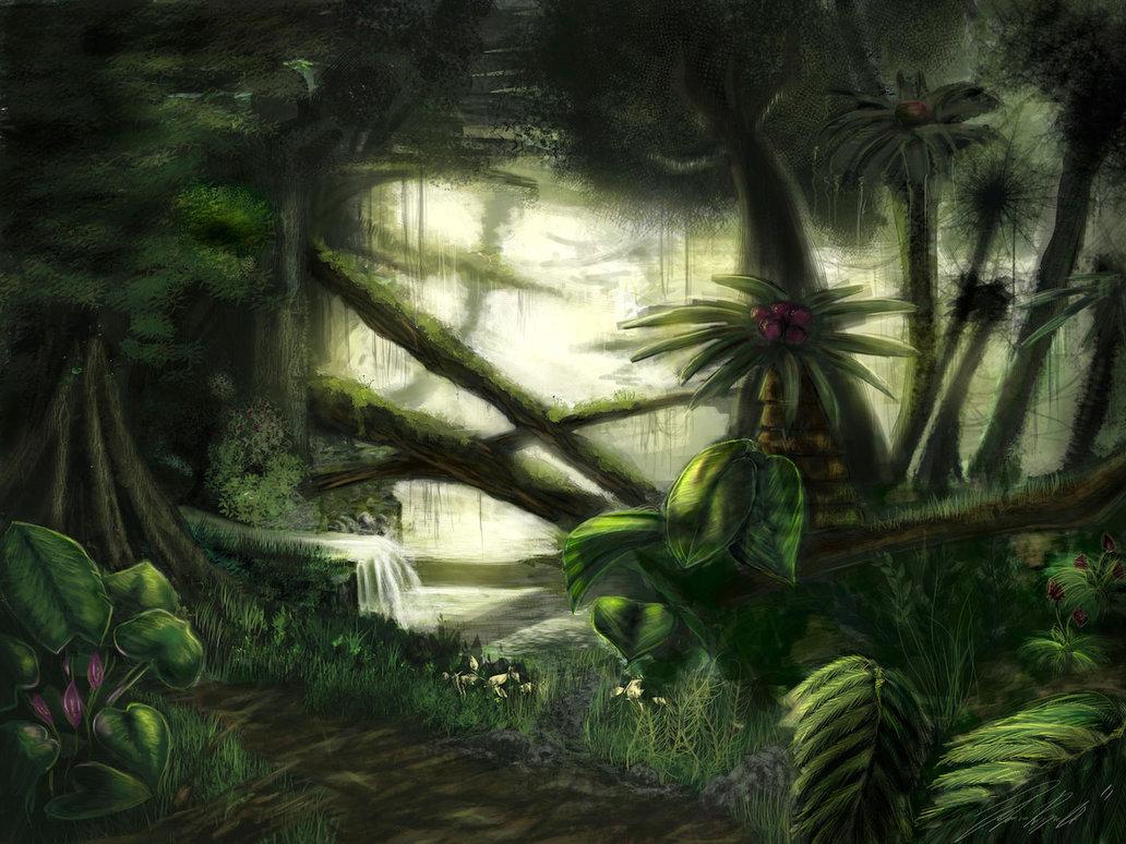 Drawn rainforest digital painting DeviantArt on Rainforest Lyraina Lyraina