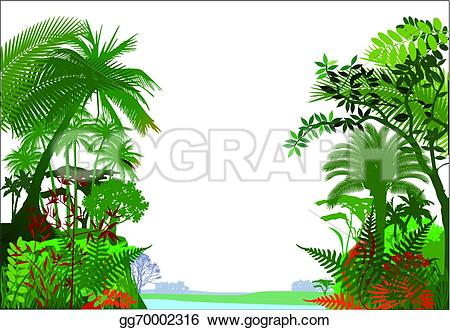 Drawn rainforest jungle landscape Rainforest  Drawing Tropical Drawing