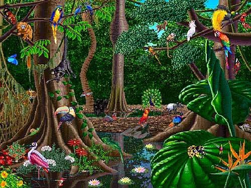 Drawn rainforest jungle landscape Google http://3 blogspot Rain bp
