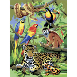 Drawn rainforest jungle scenery SCENE SMALL BY JUNGLE SMALL