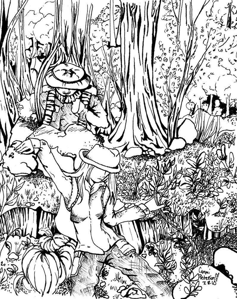 Drawn rainforest jungle scenery Rainforest pages Rainforest Rainforest Coloring