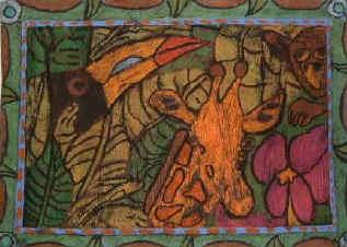 Drawn rainforest painting Rousseau print Science Henri Rousseau
