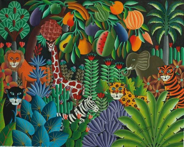Drawn rainforest painting By Pierre paintings Art paintings