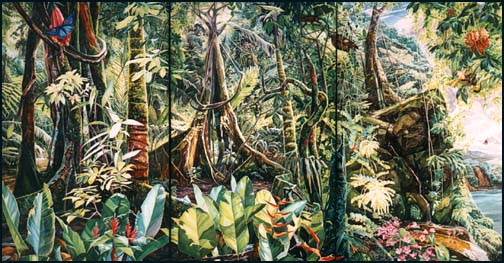 Drawn rainforest painting Home tr03  Rainforest Artists