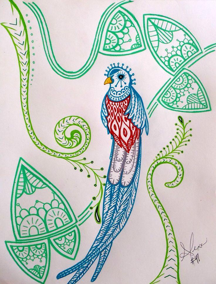 Drawn rainforest quetzal Art best Day #41 Pinterest