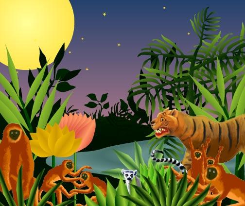 Drawn rainforest rousseau Child  Encourage Beautiful Naive