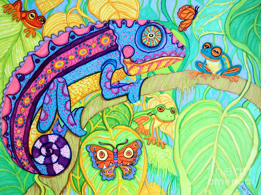Drawn rainforest tropic Drawing Frogs Fine Rain Drawings