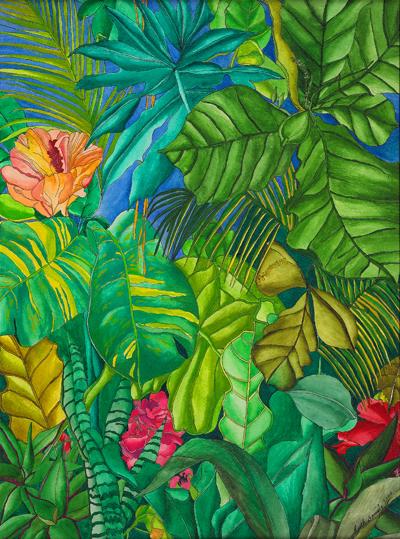 Drawn rainforest tropic Leaves Storm  Mystery Rainforest