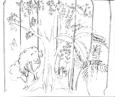 Drawn rainforest tropical rainforest biome Interior COLLEGE LEHMAN of Sample