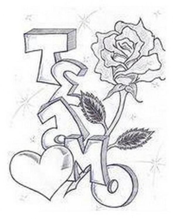 Drawn randome graffiti Letters im in Tag pictures